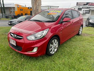 2011 Hyundai Accent RB Active Red 4 Speed Sports Automatic Sedan.