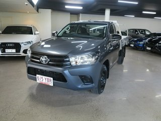 2018 Toyota Hilux TGN121R Workmate 4x2 Grey 5 Speed Manual Cab Chassis