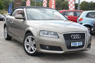 2009 Audi A3 8P MY10 TFSI S Tronic Ambition Beige 6 Speed Sports Automatic Dual Clutch Convertible.