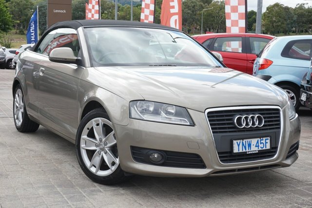 Used Audi A3 8P MY10 TFSI S Tronic Ambition Phillip, 2009 Audi A3 8P MY10 TFSI S Tronic Ambition Beige 6 Speed Sports Automatic Dual Clutch Convertible
