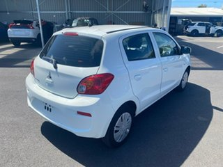 2016 Mitsubishi Mirage LA MY17 ES White 1 Speed Constant Variable Hatchback
