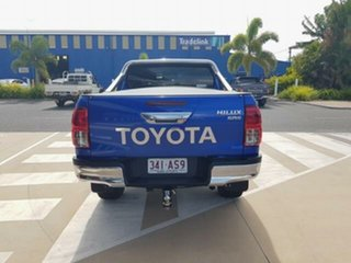 2018 Toyota Hilux GUN126R SR5 Double Cab Nebula Blue 6 Speed Sports Automatic Utility.