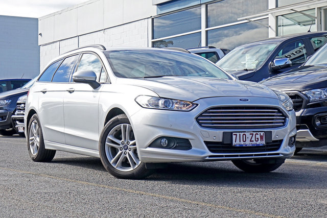 Used Ford Mondeo MD 2018.25MY Ambiente Springwood, 2017 Ford Mondeo MD 2018.25MY Ambiente Silver 6 Speed Sports Automatic Dual Clutch Wagon