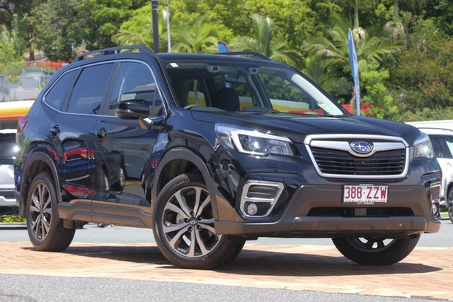 Demo Subaru Forester S5 MY21 2.5i Premium CVT AWD Newstead, 2020 Subaru Forester S5 MY21 2.5i Premium CVT AWD Crystal Black 7 Speed Constant Variable Wagon