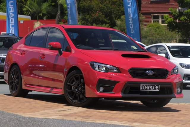 Demo Subaru WRX V1 MY21 Premium Lineartronic AWD Newstead, 2020 Subaru WRX V1 MY21 Premium Lineartronic AWD Pure Red 8 Speed Constant Variable Sedan