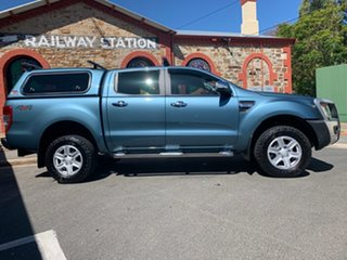 2014 Ford Ranger PX XLT Double Cab Green 6 Speed Sports Automatic Utility.