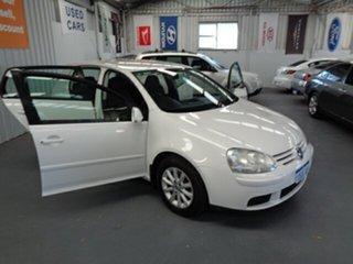 2008 Volkswagen Golf V MY08 Trendline White 6 Speed Manual Hatchback