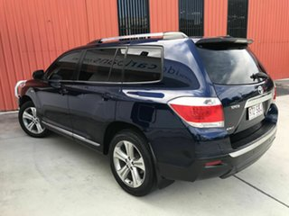 2012 Toyota Kluger GSU45R MY12 KX-S AWD Blue 5 Speed Sports Automatic Wagon.
