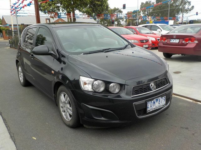 Used Holden Barina TM Newtown, 2012 Holden Barina TM Black 5 Speed Manual Hatchback