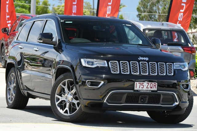 Used Jeep Grand Cherokee WK MY19 Overland Aspley, 2019 Jeep Grand Cherokee WK MY19 Overland Diamond Black Crystal 8 Speed Sports Automatic Wagon