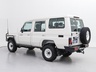 2016 Toyota Landcruiser VDJ78R MY12 Update Workmate (4x4) 3 Seat White 5 Speed Manual TroopCarrier