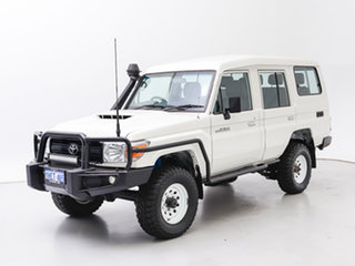 2016 Toyota Landcruiser VDJ78R MY12 Update Workmate (4x4) 3 Seat White 5 Speed Manual TroopCarrier.