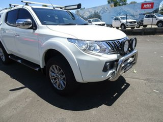 2016 Mitsubishi Triton MQ MY16 GLS Double Cab White 5 Speed Sports Automatic Utility