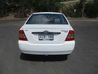 2006 Toyota Corolla ZZE122R 5Y Ascent White 4 Speed Automatic Sedan