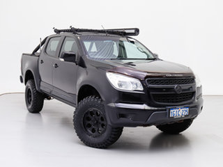 2014 Holden Colorado RG MY14 LX (4x4) Black 6 Speed Automatic Crew Cab Chassis.