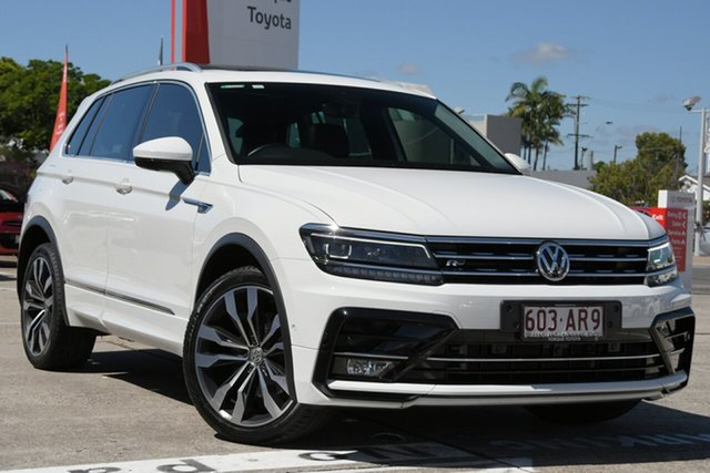 Pre-Owned Volkswagen Tiguan 5N MY18 162TSI DSG 4MOTION Highline Albion, 2018 Volkswagen Tiguan 5N MY18 162TSI DSG 4MOTION Highline Glacier White 7 Speed