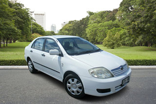 2006 Toyota Corolla ZZE122R 5Y Ascent White 4 Speed Automatic Sedan.