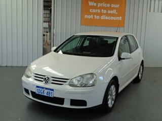 2008 Volkswagen Golf V MY08 Trendline White 6 Speed Manual Hatchback.