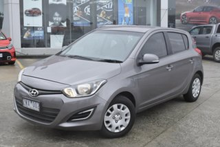 2012 Hyundai i20 PB MY12 Active Grey 4 Speed Automatic Hatchback.