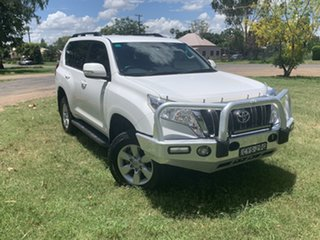 2015 Toyota Landcruiser Prado KDJ150R MY14 GXL White 5 Speed Sports Automatic Wagon.