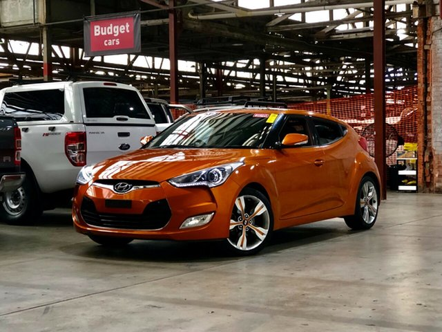 Used Hyundai Veloster FS Coupe D-CT Mile End South, 2012 Hyundai Veloster FS Coupe D-CT Orange 6 Speed Sports Automatic Dual Clutch Hatchback