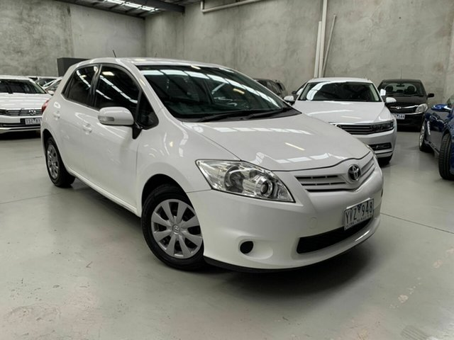 Used Toyota Corolla ZRE152R MY11 Ascent Coburg North, 2011 Toyota Corolla ZRE152R MY11 Ascent White 4 Speed Automatic Hatchback