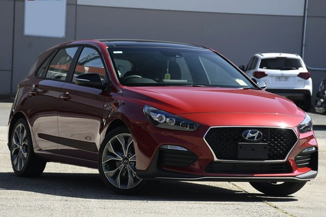 New Hyundai i30 PD.V4 MY21 N Line D-CT Premium Ferntree Gully, 2020 Hyundai i30 PD.V4 MY21 N Line D-CT Premium Fiery Red 7 Speed Sports Automatic Dual Clutch