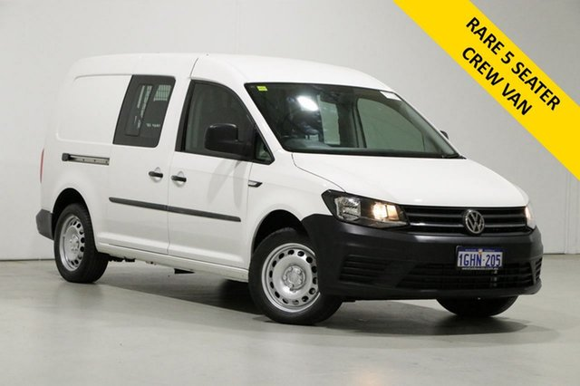 Used Volkswagen Caddy 2K MY17.5 Upgrade Maxi Crewvan TDI250 Bentley, 2017 Volkswagen Caddy 2K MY17.5 Upgrade Maxi Crewvan TDI250 White 6 Speed Direct Shift Van