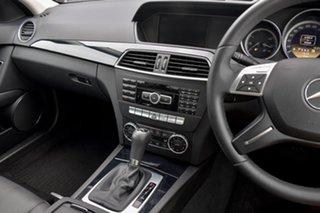 2012 Mercedes-Benz C-Class W204 MY12 C200 BlueEFFICIENCY 7G-Tronic + White 7 Speed Sports Automatic