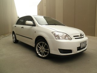 2005 Toyota Corolla ZZE122R 5Y Ascent Winter White 4 Speed Automatic Hatchback.