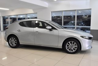 2019 Mazda 3 BP2H7A G20 SKYACTIV-Drive Pure Silver 6 Speed Sports Automatic Hatchback.