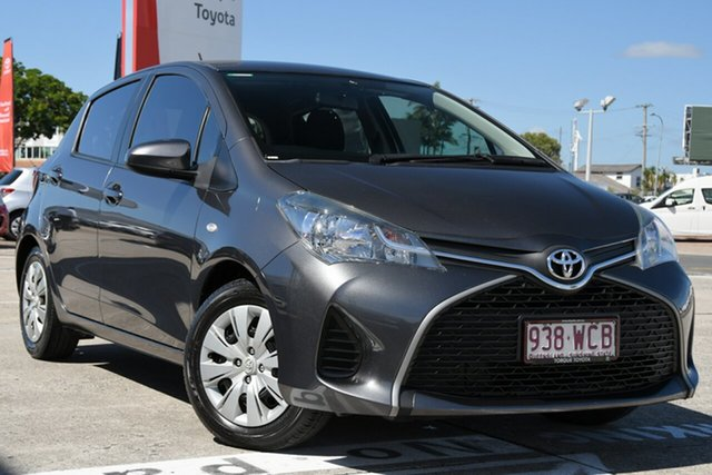 Pre-Owned Toyota Yaris NCP130R Ascent Albion, 2015 Toyota Yaris NCP130R Ascent Graphite 4 Speed Automatic Hatchback