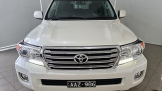 2014 Toyota Landcruiser VDJ200R MY13 VX White 6 Speed Sports Automatic Wagon.