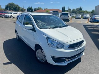 2016 Mitsubishi Mirage LA MY17 ES White 1 Speed Constant Variable Hatchback.