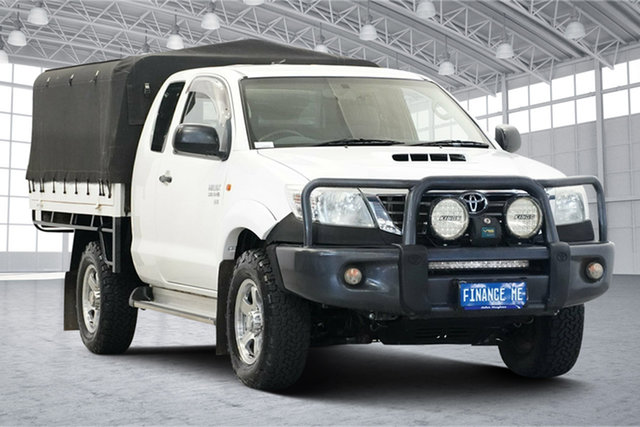 Used Toyota Hilux KUN26R MY12 SR Xtra Cab Victoria Park, 2013 Toyota Hilux KUN26R MY12 SR Xtra Cab White 5 Speed Manual Cab Chassis