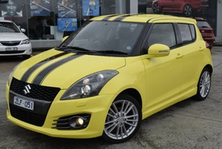 2012 Suzuki Swift FZ Sport Yellow 6 Speed Manual Hatchback.