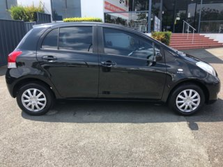 2010 Toyota Yaris NCP90R MY10 YR Black 5 Speed Manual Hatchback.