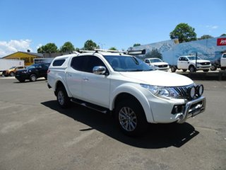 2016 Mitsubishi Triton MQ MY16 GLS Double Cab White 5 Speed Sports Automatic Utility.