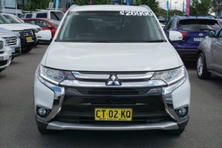 2017 Mitsubishi Outlander ZK MY17 LS 4WD White 6 Speed Constant Variable Wagon.