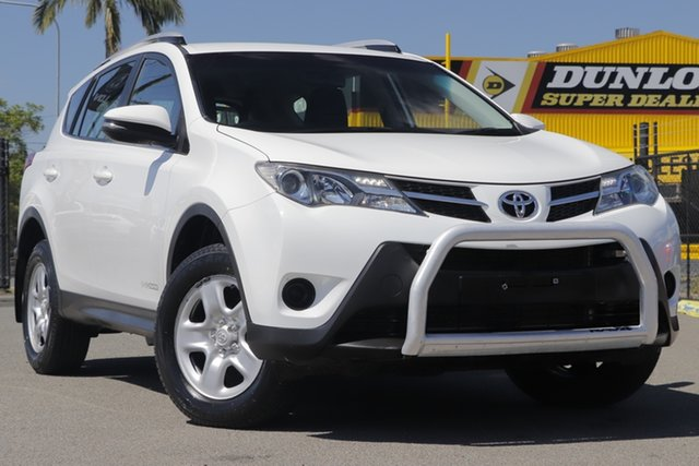 Used Toyota RAV4 ALA49R GX AWD Rocklea, 2015 Toyota RAV4 ALA49R GX AWD Glacier White 6 Speed Sports Automatic Wagon