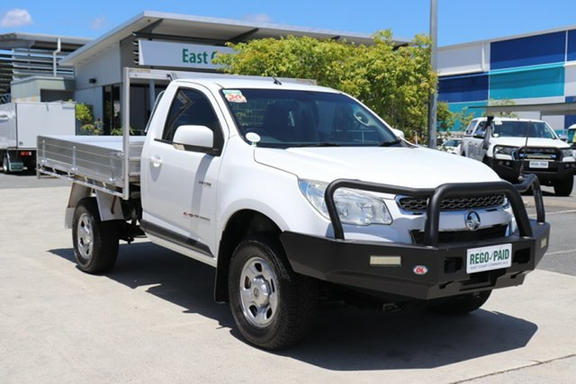 Used Holden Colorado RG MY14 LX Robina, 2014 Holden Colorado RG MY14 LX White 6 speed Manual Cab Chassis