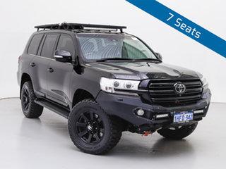 2018 Toyota Landcruiser VDJ200R LC200 Sahara (4x4) Black 6 Speed Automatic Wagon.