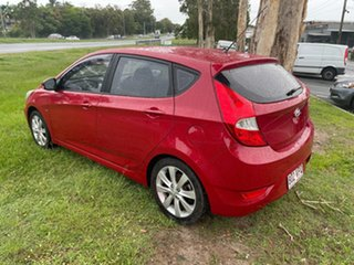 2011 Hyundai Accent RB Active Red 4 Speed Sports Automatic Sedan