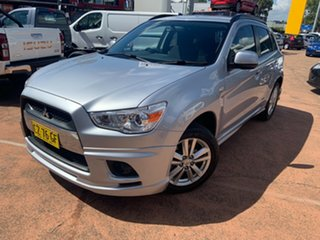 2012 Mitsubishi ASX XA MY12 (2WD) Silver Continuous Variable Wagon.