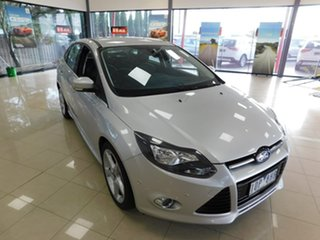 2013 Ford Focus LW MkII Titanium PwrShift Silver 6 Speed Sports Automatic Dual Clutch Sedan.