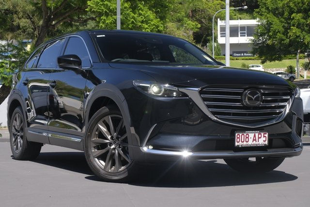 Demo Mazda CX-9 TC Azami SKYACTIV-Drive i-ACTIV AWD Newstead, 2020 Mazda CX-9 TC Azami SKYACTIV-Drive i-ACTIV AWD Jet Black 6 Speed Sports Automatic Wagon