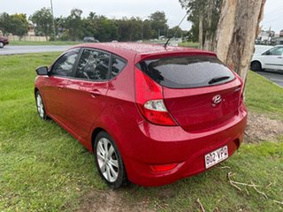 2011 Hyundai Accent RB Active Red 4 Speed Sports Automatic Hatchback
