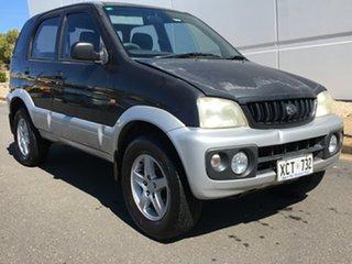 2004 Daihatsu Terios J102 DX Black 5 Speed Manual Wagon.