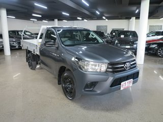 2018 Toyota Hilux TGN121R Workmate 4x2 Grey 5 Speed Manual Cab Chassis.