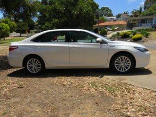 2015 Toyota Camry AVV50R Atara SL White 1 Speed Constant Variable Sedan Hybrid.